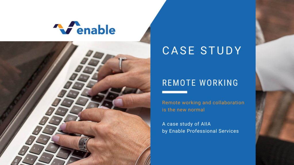 Remote working case study — AIIA